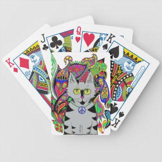 Hippy Cat Poker Deck