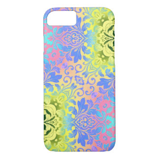 hippy chic mandala turquoise aqua bohemian iPhone 8/7 case