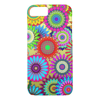 Hippy Chic Psychedelic Floral iPhone Case