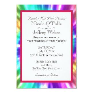 Hippy Chic Tie Dye Tye Die Wedding Invitation
