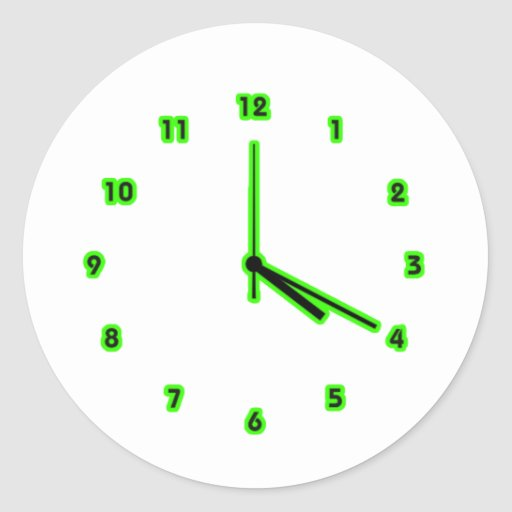 Hippy clock outline stickers