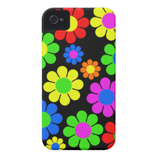 Hippy Flower Collage iPhone 4 Case-Mate Cases