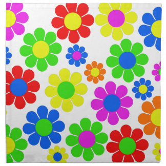 Hippy Flower Collage Napkin