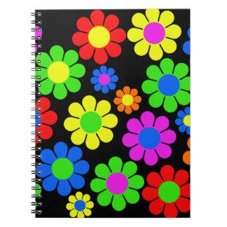 Hippy Flower Collage Notebook