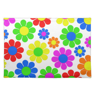 Hippy Flower Collage Placemat