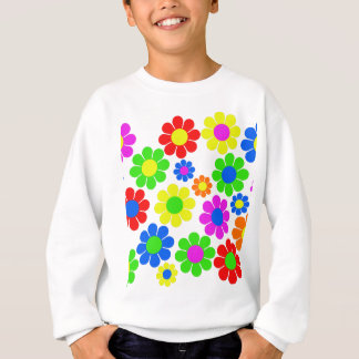Hippy Flower Collage Sweatshirt