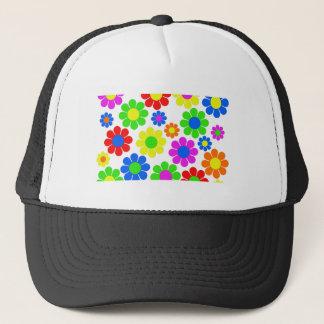 Hippy Flower Collage Trucker Hat