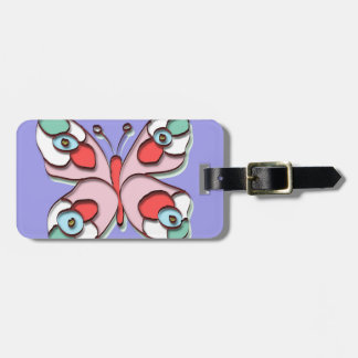 Hippy Fly Butterfly Luggage Tag