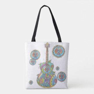 Hippy Guitar Custom All-Over-Print Tote Bag