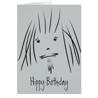 Hippy Guy Hippy Birthday Card (Blank)