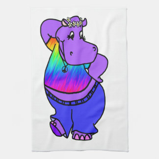 Hippy Hippo Kitchen Towel