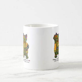 Hippy Lucky Black Cat Coffee Mug