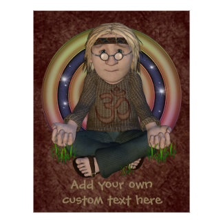 Hippy Meditation Personalized Poster