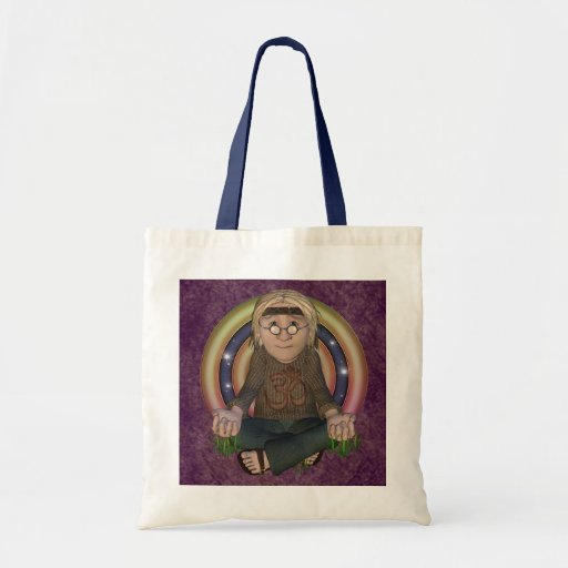 Hippy Meditation Tote Bags