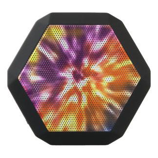 Hippy Peace Retro Tie Dye Colorful Boho Black Bluetooth Speaker
