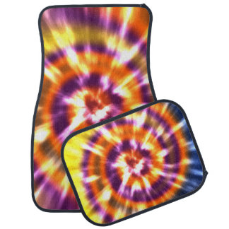 Hippy Peace Retro Tie Dye Colorful Boho Car Carpet