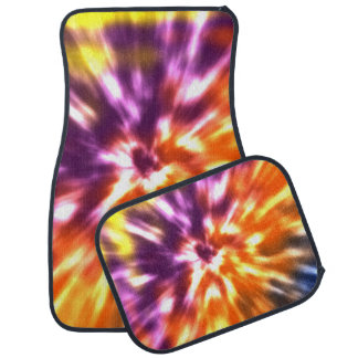 Hippy Peace Retro Tie Dye Colorful Boho Floor Mat