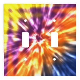 Hippy Peace Retro Tie Dye Colorful Boho Light Switch Cover