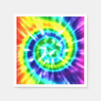 Hippy Peace Retro Tie Dye Colorful Boho Napkin