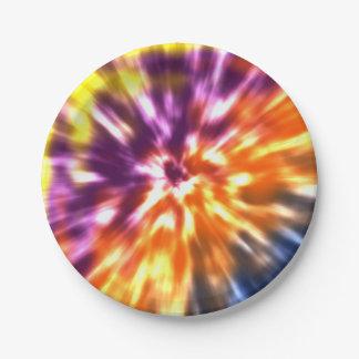 Hippy Peace Retro Tie Dye Colorful Boho Paper Plate