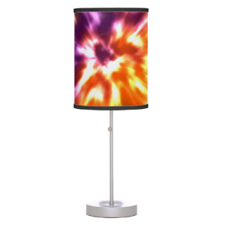Hippy Peace Retro Tie Dye Colorful Boho Table Lamp