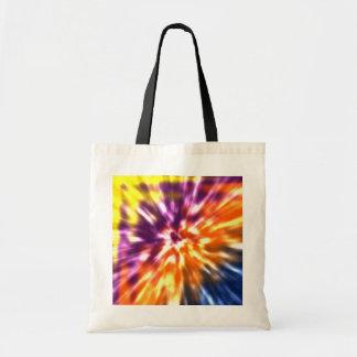 Hippy Peace Retro Tie Dye Colorful Boho Tote Bag