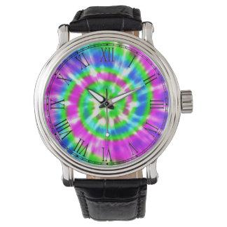 Hippy Peace Retro Tie Dye Colorful Boho Watch