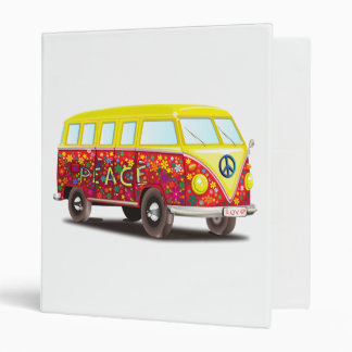 Hippy Peace Van 3 Ring Binders
