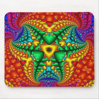 Hippy Rainbow Psychedelic Fractal Mouse Pad