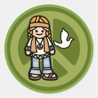 hippy stickers -- trippy.