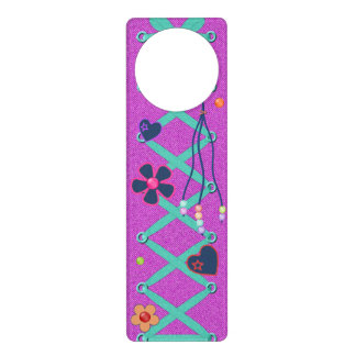 Hippy Style Door Hanger Hearts Flowers Beads