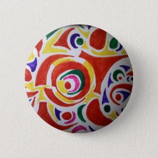 Hippy Swirls 2 Inch Round Button