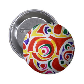 Hippy Swirls 2 Inch Round Button