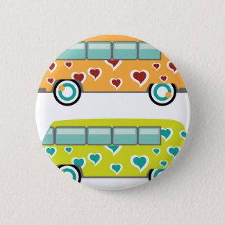 Hippy Van 2 Inch Round Button