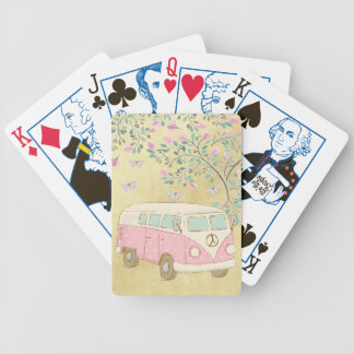 Hippy Van Butterflies and Blossom Gold Bicycle Playing Cards