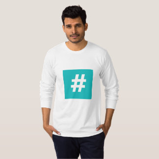 Hipstar Hashtag Blue Long-Sleeve T-Shirt
