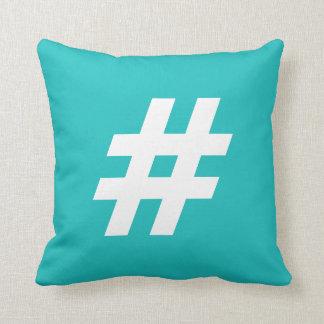 Hipstar Hashtag Blue Pillow