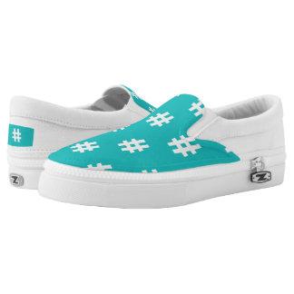 Hipstar Hashtag Blue Slipon Sneaker