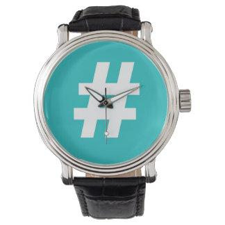 Hipstar Hashtag Blue Watch