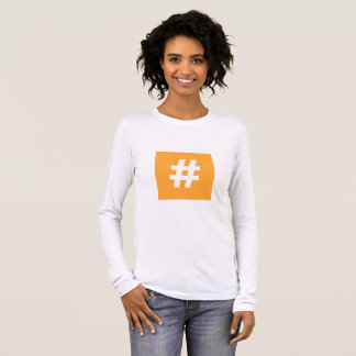 Hipstar Hashtag Orange Long-Sleeve T-Shirt