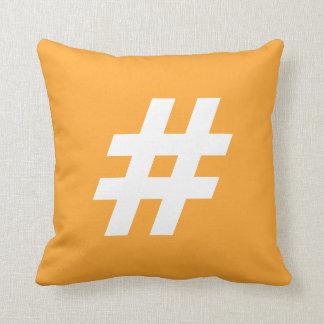 Hipstar Hashtag Orange Pillow