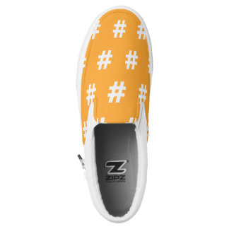 Hipstar Hashtag Orange Slipon Sneaker