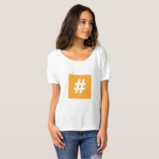 Hipstar Hashtag Orange Slouchy Boyfriend T-Shirt