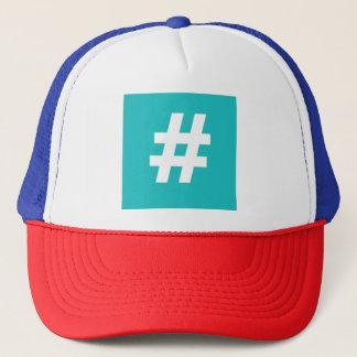 Hipstar Hashtag Trucker Hat (Blue)