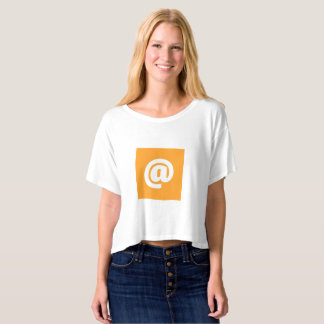 Hipstar @ Orange Boxy Crop Top T-Shirt