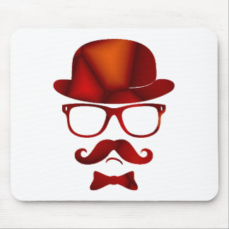 Hipster 1b derby moustache glasses mousepads