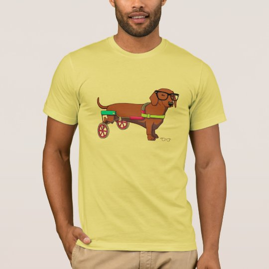 Hipster 2-Legged Dog T-Shirt (without text)
