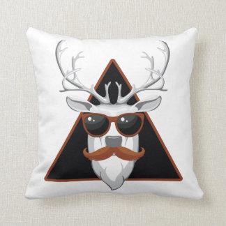 Hipster Antler Art Throw Pillow