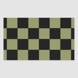 Hipster Army Green Checkerboard Chessboard Sticker