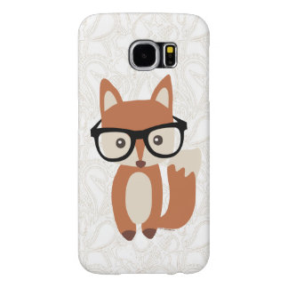 Hipster Baby Fox w/Glasses Cute Samsung Galaxy S6 Cases